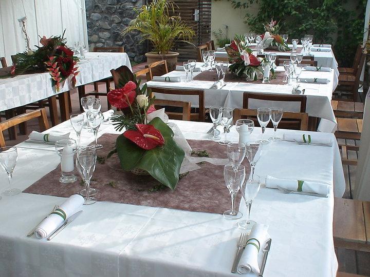 resataurant entre deux hotel dimitile ile de la Réunion